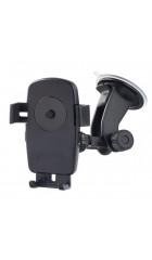 """Автомобильный держатель Perfeo-502 для смартфона/навигатора/ до 5""""/ на стекло/ One touch/ черный"""