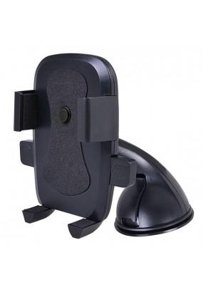 """Автомобильный держатель Perfeo-516 для смартфона до 6""""/ на стекло/ торпедо/ One touch/ супер присоска/ черный"""