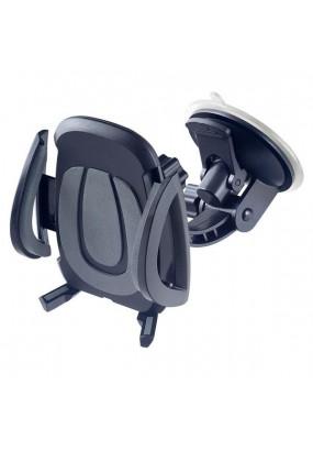 """Автомобильный держатель Perfeo-520 для смартфона до 6,5""""/ на стекло/ торпедо/ супер присоска/ черный+серый"""