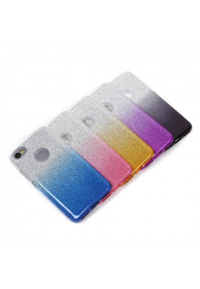 Чехол-накладка для Xiaomi Redmi Note 5А Prime (32 и 64GB), Омбре с блестками (blue)