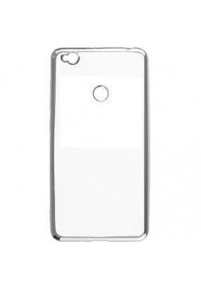 Силиконовый чехол Xiaomi Mi MAX 2 с Серебристой зеркальной рамкой