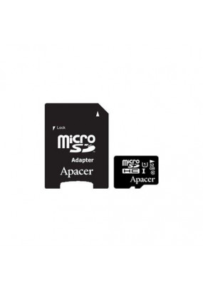 Карта памяти Apacer microSDHC 32GB Class10 UHS-I R/W 45/10 MB/s + adapter (AP32GMCSH10U1-R)
