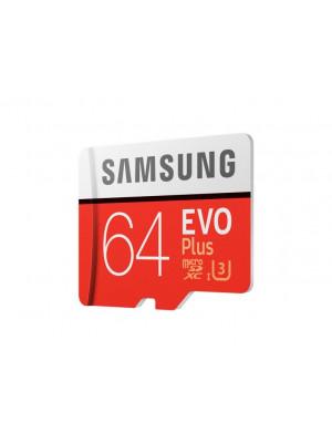 Карта памяти Samsung microSDHC 64GB EVO Plus Class10 UHS-I, w/adapter (MB-MC64GA/RU)