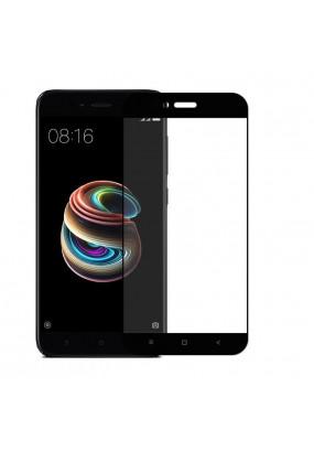 Защитное стекло 5D FULL GLASS /клеится на полный экран, упак-картон/ для Xiaomi Mi-5X/Mi-A1 черный