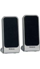 Defender SPK-225 , 2.0, 1x2 Вт,USB, пластик, черные/серебро