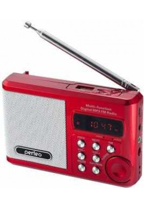 Perfeo Sound Ranger, порт.колонка, 3.5мм, УКВ+FM, MP3 (USB/microSD), AUX, 1000мАч, красный (PF-SV922RED)