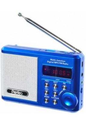 Perfeo Sound Ranger, порт.колонка, 3.5мм, УКВ+FM, MP3 (USB/microSD), AUX, 1000мАч, синий (PF-SV922BLU)