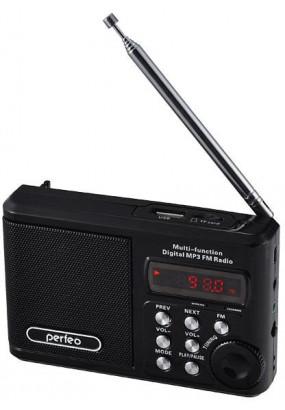 Perfeo Sound Ranger, порт.колонка, 3.5мм, УКВ+FM, MP3 (USB/microSD), AUX, 1000мАч, черный (PF-SV922BK)