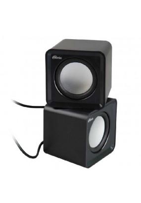 RITMIX SP-2020 Black, USB, jack 3.5 мм, 5 Вт (2*2,5), динамики 4,5 см, 90-20000 Гц, гер. громкости, 176 гр., 62*62*55.2 мм.