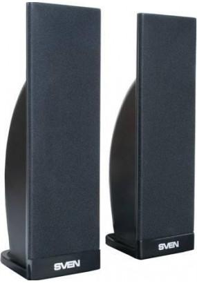 SVEN 230 2.0, (Черные) стерео, мощность 2x2 Вт, 100-20000 Гц, разъем для наушников, магнитное экранирование