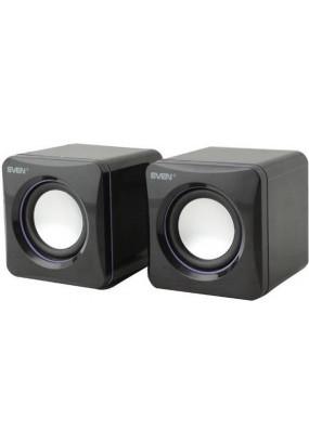 SVEN 315 2.0, (Черные) стерео, мощность 5 Вт, 100-20000 Гц, материал колонок: пластик, разъем для наушников, магнитное экранирование, питание от USB
