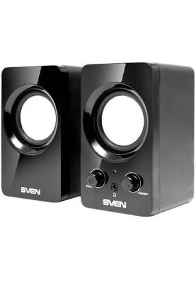 SVEN 354 2.0 BLACK, мощность: 4 Вт, 100-20000 Гц, материала колонок: пластик, разъем для наушников