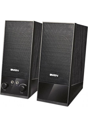 SVEN SPS-604 BLACK, стерео, мощность: 4 Вт, 90-20000 Гц, материала колонок: MDF, разъем для наушников