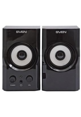 SVEN SPS-605 BLACK Мультимедийная акустическая система Выходная мощность (RMS)  2 x 3 Вт Частотный диапазон 100 – 18 000 Гц Цвет Чёрный