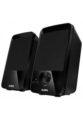 SVEN 312 2.0, (Черные) стерео, мощность 4 Вт, 100-20000 Гц, материал колонок: пластик, LED индикатор питание от USB