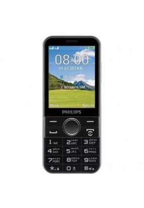 """Мобильный телефон Philips Xenium E580 Black, 2,8"""" TFT (320х240), 3100 мАч, 2 Мп, 39 ч в режиме разговора, 2 Sim"""
