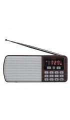 Perfeo радиоприемник цифровой ЕГЕРЬ FM+ 70-108МГц/ MP3/ питание USB или BL5C/ коричневый (i120-BK)