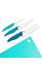 Набор керамических ножей с разделочной доской Xiaomi Houhou Ceramic Knife Chopping Block Kit