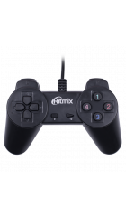Геймпад Ritmix GP-001 Black, USB, 14 кнопок, PC, 1.5м