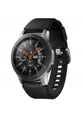 """Умные часы Samsung Galaxy Watch 46mm Steel, 1.3"""" (360х360), NFC, Tizen, 750Mb/4Gb, черный силиконовый ремешок, 472 мAч (SM-R800NZSASER)"""