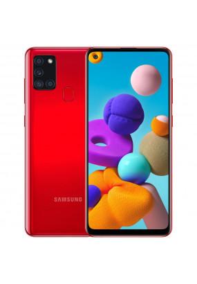 """Смартфон Samsung SM-A217F Galaxy A21s 32Gb Red, 6.5"""" (1600х720) TFT, 3/32Gb, NFC, 8х2,0ГГц, A10.0, 48+8+2+2Mp/13Mp, 5000мАч (SM-A217FZRNSER)"""