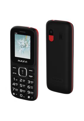 Мобильный телефон Maxvi C26 Black-red