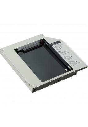 "Шасси для HDD/SSD 2.5'' 7.0-9.5 mm SATA (7+15 pin) в отсек 5.25"" ODD Slim ноутбука 12.7 mm, внешний интерфейс SlimSATA (7+6 pin), Agestar SSMR2S"