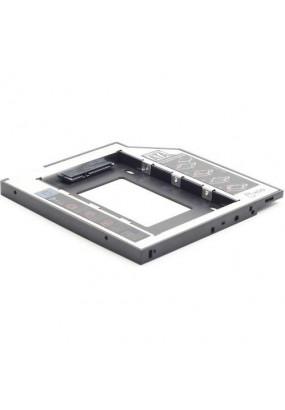 "Шасси для HDD/SSD 2.5'' 7.0-9,5 mm SATA (7+15 pin) в отсек 5.25"" ODD Slim ноутбука 9,5 mm, внешний интерфейс SlimSATA (7+6 pin), Gembird MF-95-01"