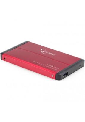 "Корпус для HDD/SSD 2.5"" SATA3 USB3.0 Gembird EE2-U3S-2-R, Red, алюминиевый"