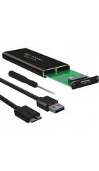 Внешний корпус SSD AgeStar 3UBNF1 m2 NGFF 2280 B-Key USB 3.0 алюминий серый