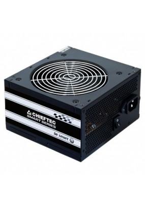 Блок питания CHIEFTEC GPS-500A8, Retail, 500W, v.2.3, КПД > 80%, A.PFC, 1x PCI-E (6+2-Pin), 3x SATA, 2x MOLEX, Fan 12cm
