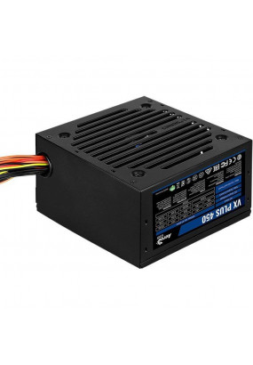 Блок питания Aerocool VX PLUS 450, 500W,ATX v2.3 Haswell, fan 12cm, 500mm cable, power cord, 20+4P, 4+4P, PCIe 6+2P x1, PATA x2, SATA x2, FDD