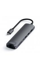 USB-C адаптер Satechi Type-C Slim Multiport with Ethernet Adapter черный