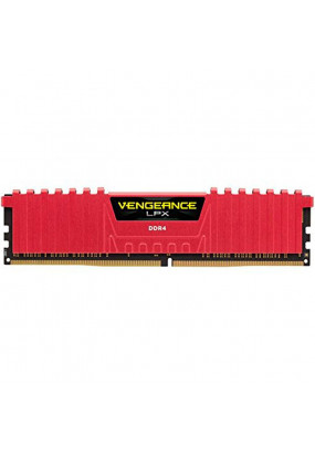 RAM 8GB DDR4-2400 PC4-19200 Corsair Vengeance LPX Red, CL16 (16-16-16-39), 1.2V, XMP, retail (CMK8GX4M1A2400C16R)