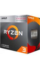 APU sAM4 AMD Ryzen 3 3200G Box Wraith Stealth cooler (YD3200C5FHBOX) (3.6-4.0GHz, Summit Ridge, 4C/4T, L2: 2MB, L3: 4MB, Radeon RX Vega 8 (512 Shader cores, 1250MHz), 14nm, 65W, DDR4-2933, unlocked)