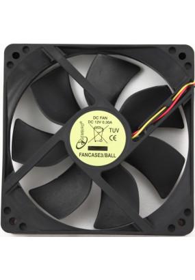 Вентилятор 120 мм Gembird FANCASE3, 120x120x25, 3 pin, 2100 rpm, провод 30 см