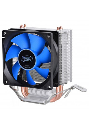 Охладитель Deepcool ICE EDGE MINI FS V2.0, S115X/775/AM2+/AM3+/AM4/FM2+/FM1, 2 теплотрубок, TPD 100W, 3-pin, Ф80х25mm, 2200rpm, 24.7dBA, 25.13 CFM, HDB (hydro dynamic bearing), 343 гр.