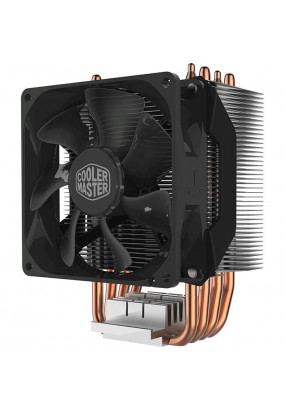 Охладитель CoolerMaster Hyper H412R (RR-H412-20PK-R2), All Sockets, 4 теплотрубки, TPD 95W, 4 pin PWM, fan Ф92х25mm, 600-2000rpm, 29.4dBA, 34.1 CFM, 667 гр.