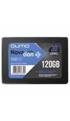 "SSD 2.5"" 120GB SATA3 Qumo Novation TLC 3D, Oem (Q3DT-120GAEN OEM) (7.0 mm, AS2258, TLC 3D, R/W: 540/560MB/s)"