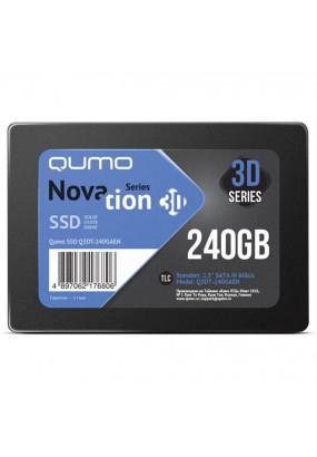 """SSD 2.5"""" 240GB SATA3 Qumo Novation TLC 3D, Oem (Q3DT-240GAEN OEM) (7.0 mm, AS2258, TLC 3D, R/W: 540/560MB/s)"""