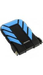 "HDD ext 2,5"" 1TB USB3.1 ADATA DashDrive Durable HD710 Pro, прорезиненный, черный/синий (AHD710P-1TU31-CBL) Waterproof/Dustproof/Shockproof, военный стандарт MIL-STD-810G 516.6"