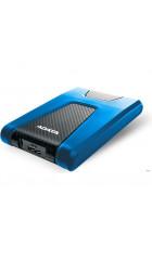 "HDD ext 2,5"" 2TB USB3.1 ADATA DashDrive Durable HD650, прорезиненный пластик, черный/синий (AHD650-2TU31-CBL) Waterproof/Dustproof/Shockproof, военный стандарт MIL-STD-810G 516.6"