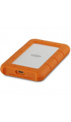 """HDD ext 2.5"""" 1.0TB USB3.0 Type-C LaCie Original Rugged Mini, алюминий/пластик, оранжевый (STFR1000800)"""