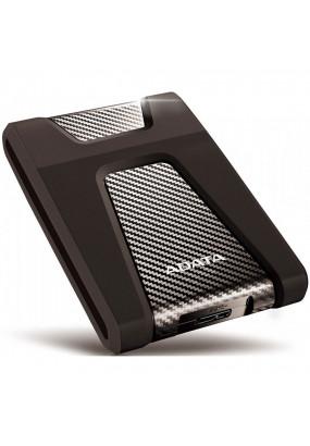 """HDD ext 2.5"""" 2.0TB USB3.1 ADATA DashDrive Durable HD650, ударопрочный, чёрный (AHD650-2TU31-CBK) Anti-shock Silicone, Scratchproof"""