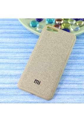 Чехол-накладка Original /силикон.джинс,иск.кожа/ для Xiaomi Mi-6 золото