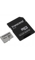 Карта памяти Transcend microSDHC 300S 16GB Class 10 UHS-I U1 +SD adapter  (TS16GUSD300S-A)
