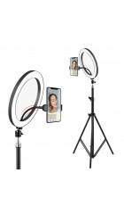 Кольцевая LED лампа (36см)+держатель для телефона+штатив(металл)