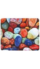 """Коврик Gembird MP-STONES, рисунок """"камни"""", размеры 220*180*1мм, полиэстер+резина"""