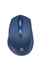 Мышь Defender Genesis MM-785 Blue, Wireless, 6 кн., 2400 dpi, USB