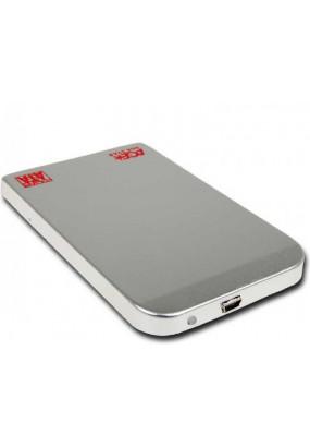 """Корпус для HDD/SSD 2.5"""" SATA3 USB2.0 AgeStar SUB2O1 Silver, алюминиевый"""